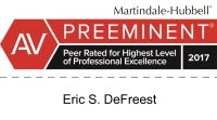 Eric S. DeFreest Martindale-Hubbell Review